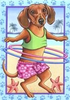 Dachshund Hula Hoop Fine-Art Print