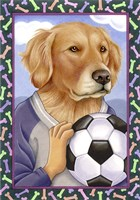 Golden Retriever Soccer Ball Fine-Art Print