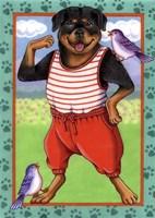 Rottweiler Workout Fine-Art Print