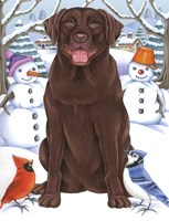Winter Chocolate Lab Fine-Art Print