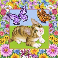 Butterfly Kitten Fine-Art Print