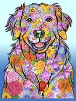 Flowers Golden Retriever Fine-Art Print