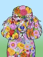 Flowers Poodle Fine-Art Print