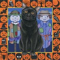Halloween Black Cat Fine-Art Print
