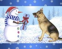 Snowman Dog Fine-Art Print
