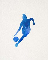 Basketball Girl Watercolor Silhouette Part II Fine-Art Print