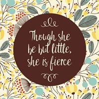 Though She Be But Little - Retro Floral White Fine-Art Print