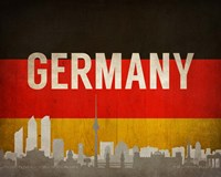 Berlin, Germany - Flags and Skyline Fine-Art Print
