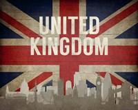 London, United Kingdom - Flags and Skyline Fine-Art Print