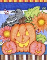 Crows Pumpkin Patch Fine-Art Print