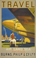 Art Deco Airplane Travel Fine-Art Print