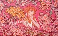 Mucha Woman Among Flowers Arch Vers Fine-Art Print