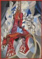 Red Eiffel Tower Delaunay 1911 Fine-Art Print