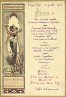 Paris Nouveau Menu Fine-Art Print