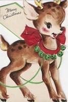Vintage Xmas Deer Fine-Art Print