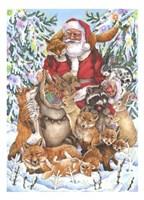 Santa Foxes Fine-Art Print