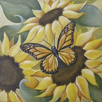 Large Butterfly and Sunflower Fine-Art Print