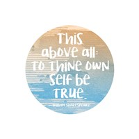 To Thine Own Self Be True Shakespeare Blue Fine-Art Print