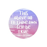 To Thine Own Self Be True Shakespeare Purple Fine-Art Print