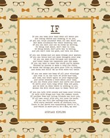 If by Rudyard Kipling - Retro Orange Fine-Art Print