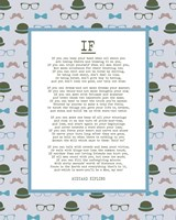 If by Rudyard Kipling - Retro Blue Fine-Art Print