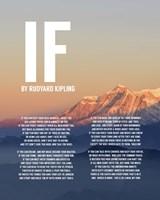 If by Rudyard Kipling - Mountain Sunset Fine-Art Print