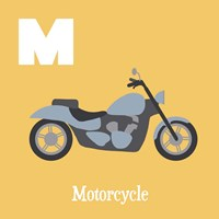 Transportation Alphabet - M is for Motorcycle Fine-Art Print
