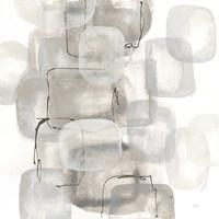 Neutral Stacking I White Fine-Art Print