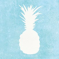 Tropical Fun Pineapple Silhouette I Fine-Art Print