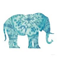 Boho Teal Elephant I Fine-Art Print