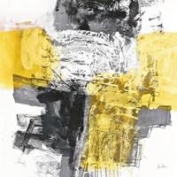 Action I Yellow and Black Sq Fine-Art Print