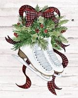 Holiday Sports III on White Wood Fine-Art Print