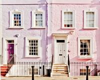London Pink Purple Houses Fine-Art Print