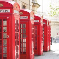 Covent Garden Phone Boxes Fine-Art Print