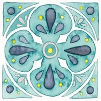 Garden Getaway Tile VI Teal Fine-Art Print