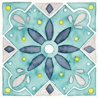 Garden Getaway Tile V Teal Fine-Art Print