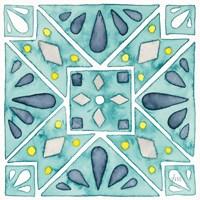 Garden Getaway Tile IX Teal Fine-Art Print