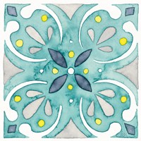 Garden Getaway Tile IV Teal Fine-Art Print