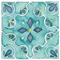 Garden Getaway Tile II Teal Fine-Art Print