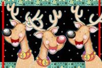 Happy Reindeer Fine-Art Print