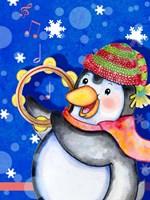 Penguin Tambourine Fine-Art Print