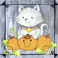 Pumpkins and Kitty 1 Fine-Art Print