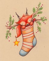 Merry Christmas Little Fox Fine-Art Print