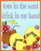 Toes In The Sand Fine-Art Print