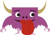 Cute Purple Monster Fine-Art Print