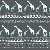 Tribal Giraffes Fine-Art Print