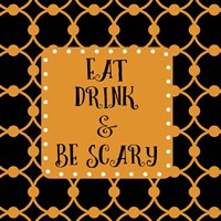 Eat Drink & Be Scary Outlines Fine-Art Print