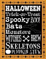 Halloween Words 1 Outlines Fine-Art Print