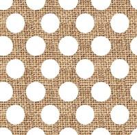 White Burlap Dots Fine-Art Print