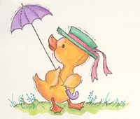Duck With Umbrella Fine-Art Print